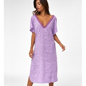 BRAND NEW WITH TAGS PITUSA LAVENDER V-BACK DRESS